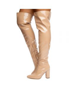11f22bf487e0 Tinashe-2 Patent Pointy Thigh High Boots