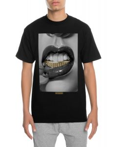 The Ice Grillz Gold Tee in Black