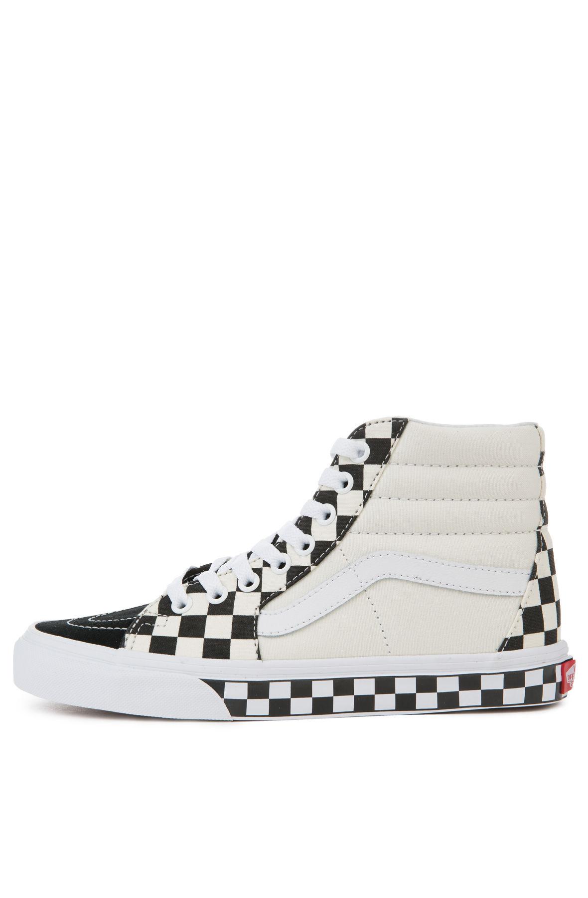 VANS Sneaker Women s Sk8-Hi Checker Sidewall Black True White 208c874df