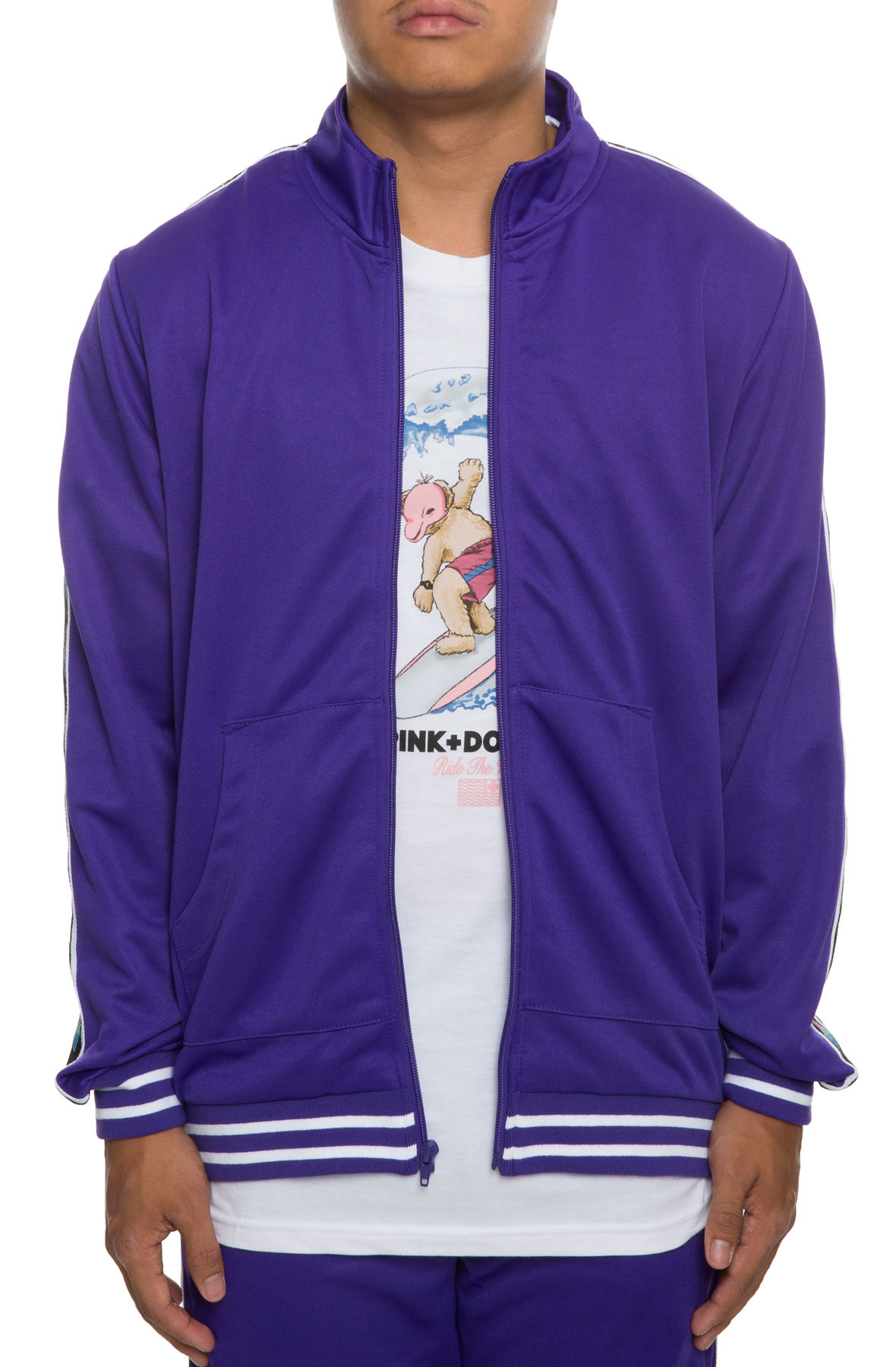 The Wave Sport Track Jacket in Purple