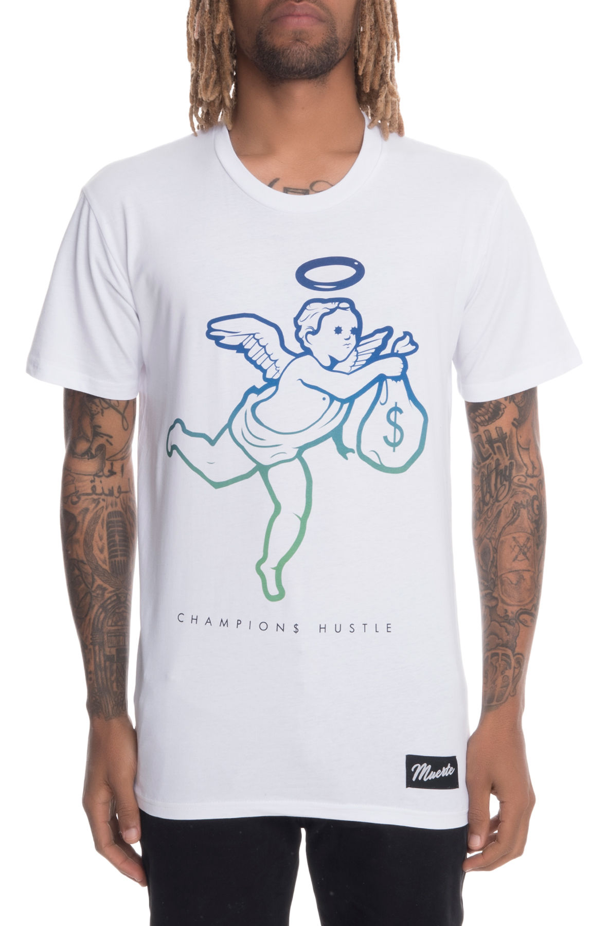 Image of The Angel Gradient Short Sleeve Tee in White