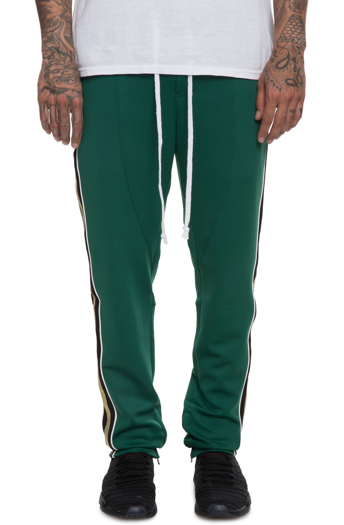 Image of The Jenner Track Pant in Forest Green and Gold