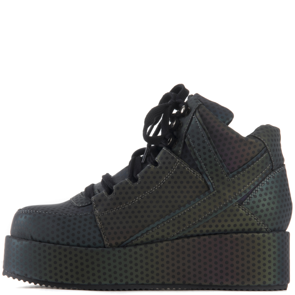 Image of Y.R.U. for Women: Qozmo Low Key Reflective Platform Sneaker