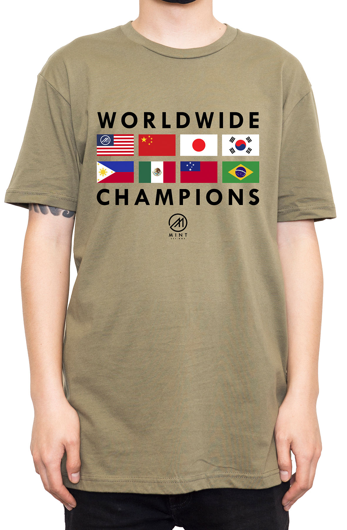 Image of The Mint Flags 2 Tee in Olive