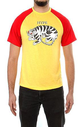 Image of Retro Hype TigerT-shirts Lemon Red