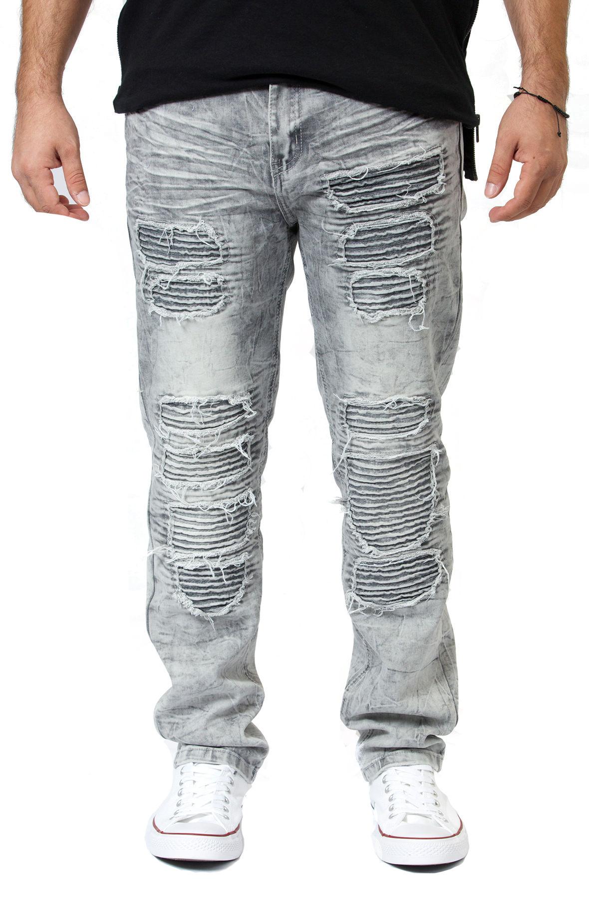 Image of Slim Fit Biker Jeans in Black Ice