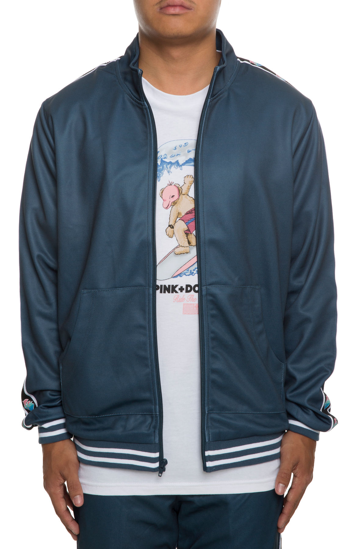 The Wave Sport Track Jacket in Marine