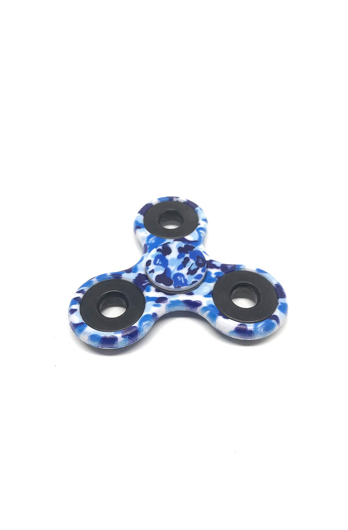 fidget spinner in blue camo
