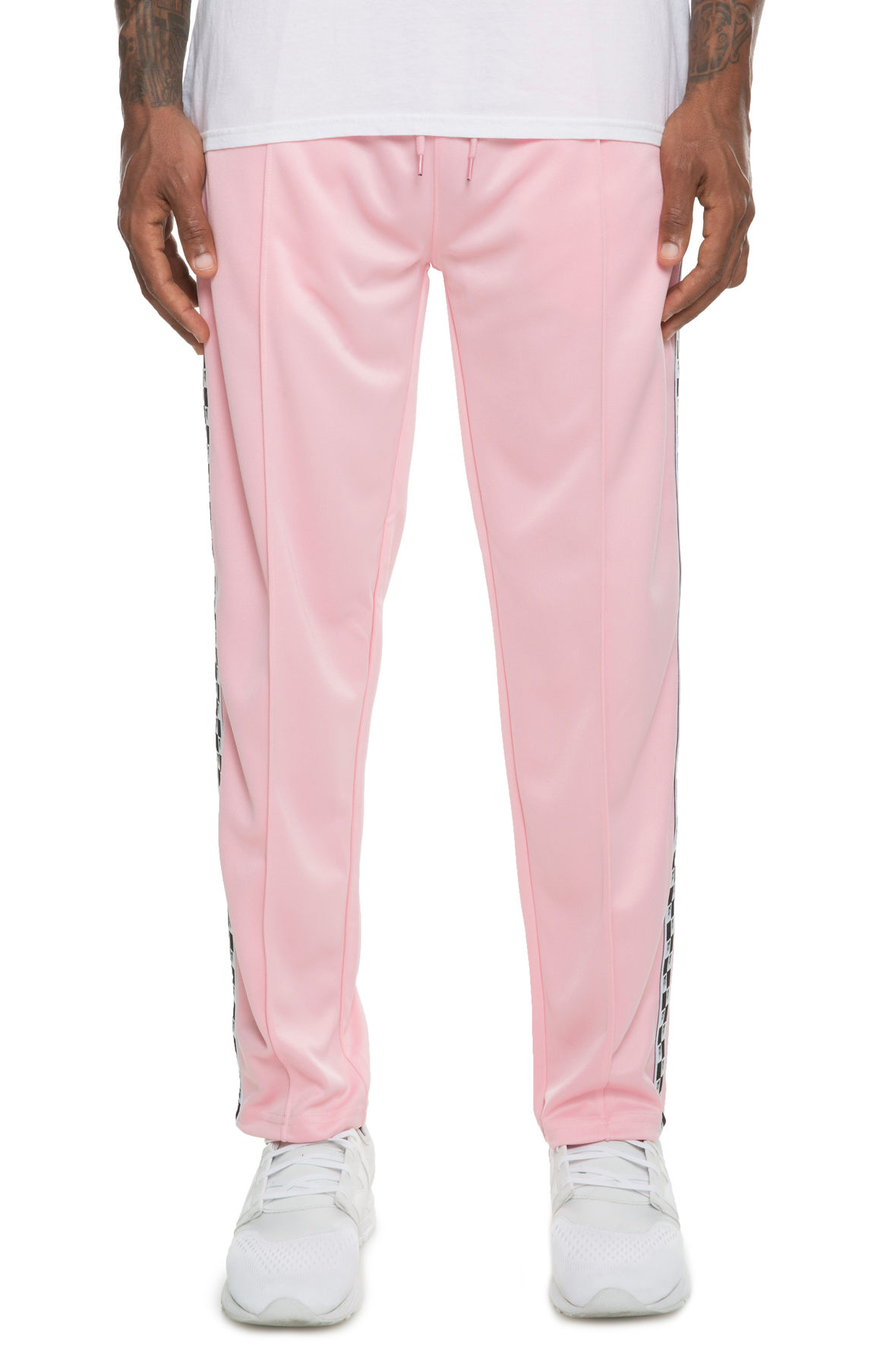 10 Deep XXX USA Checkered Flag Track Pants in Pink