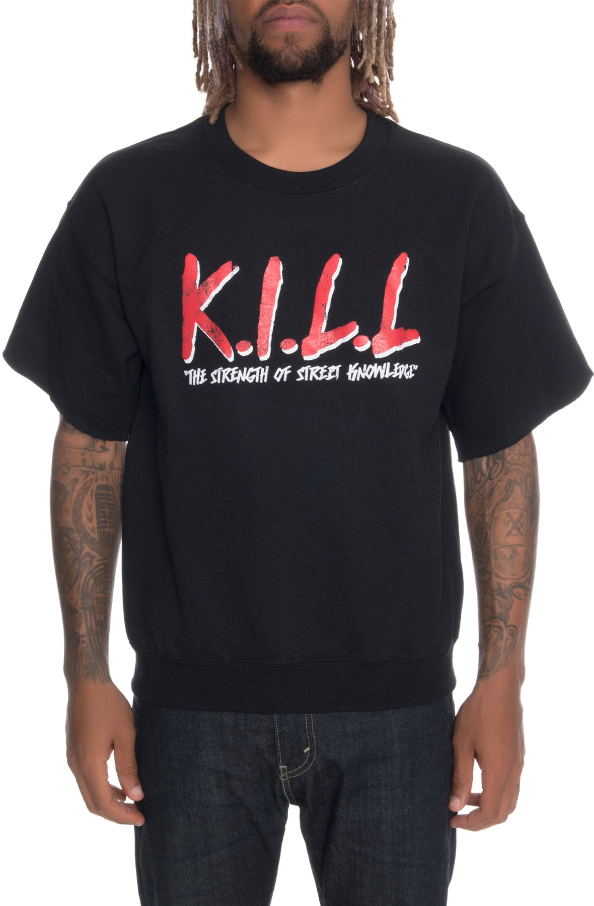 Image of The Street Knowledge Short Sleeve Crewneck in Black