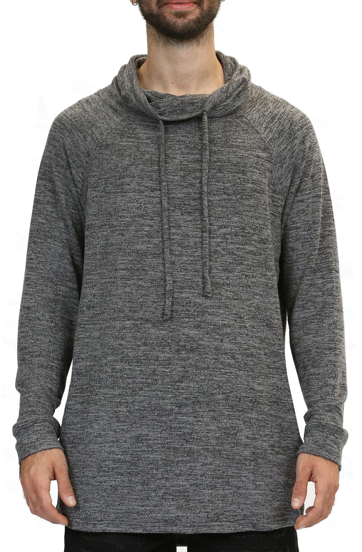 Image of Cowl Neck Sweatshirt / Charcoal Gray