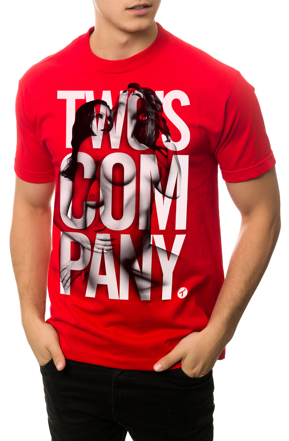 Image of The Two's Company Tee in Red