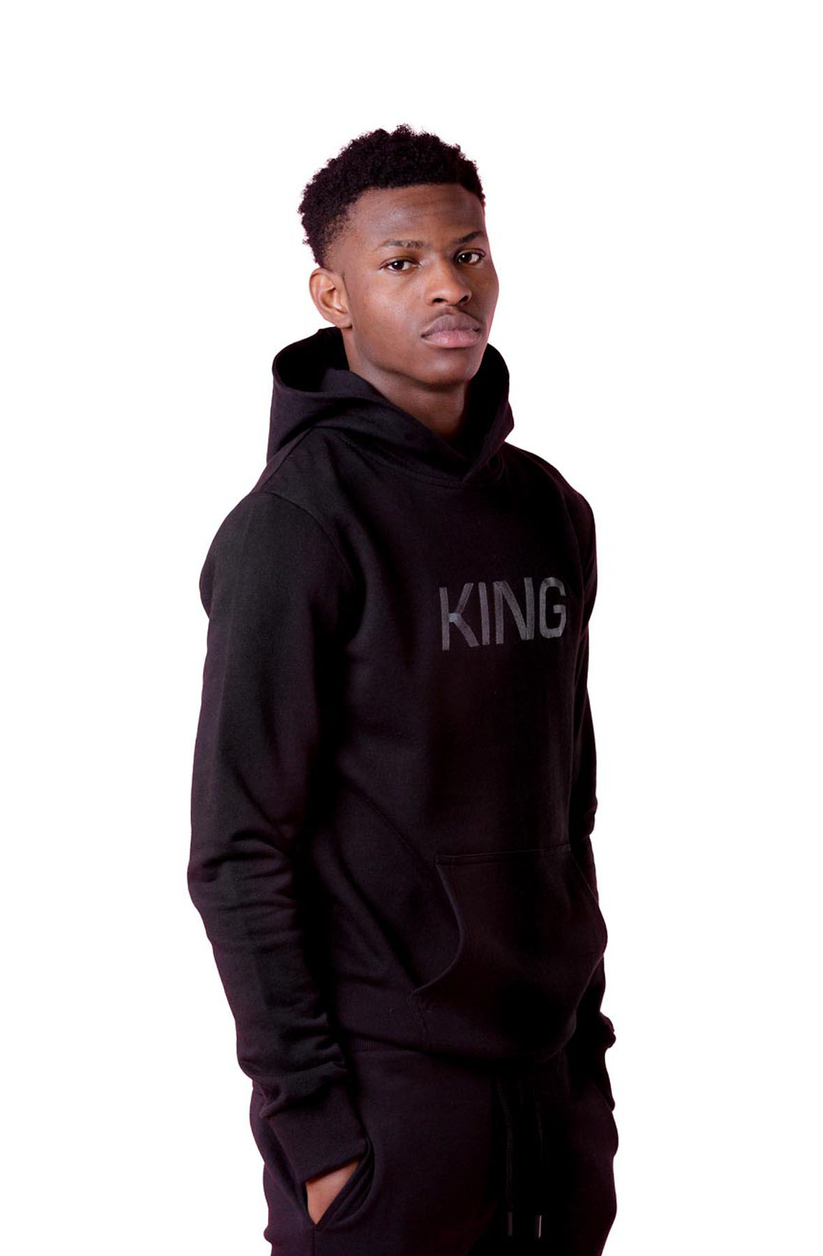 Image of Wapping Tracksuit Hoodie - Black