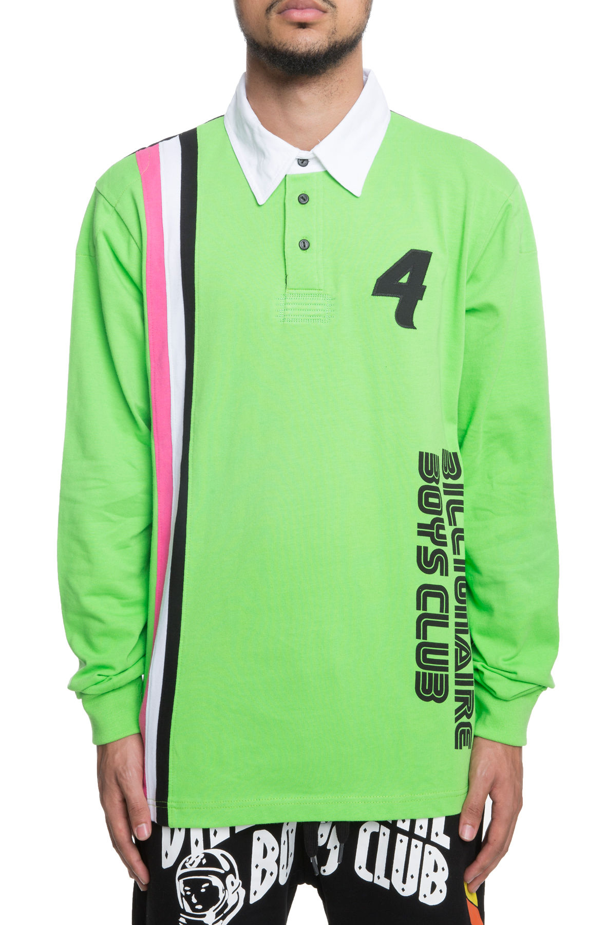 Image of The Podium Long Sleeve Polo in Green