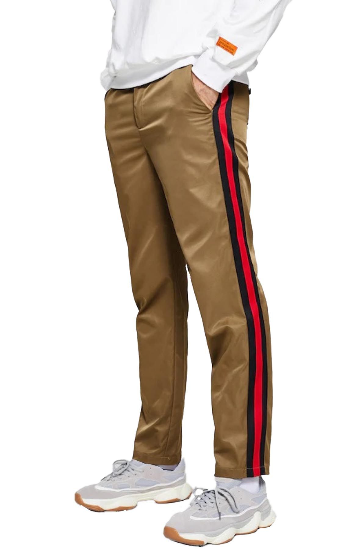 Image of Striped Trim Pants