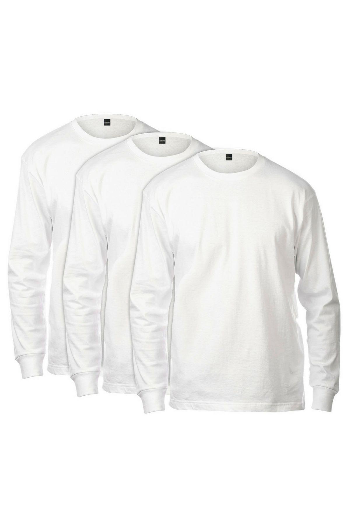 Basic Long Sleeve Tee 3 Pack (White)