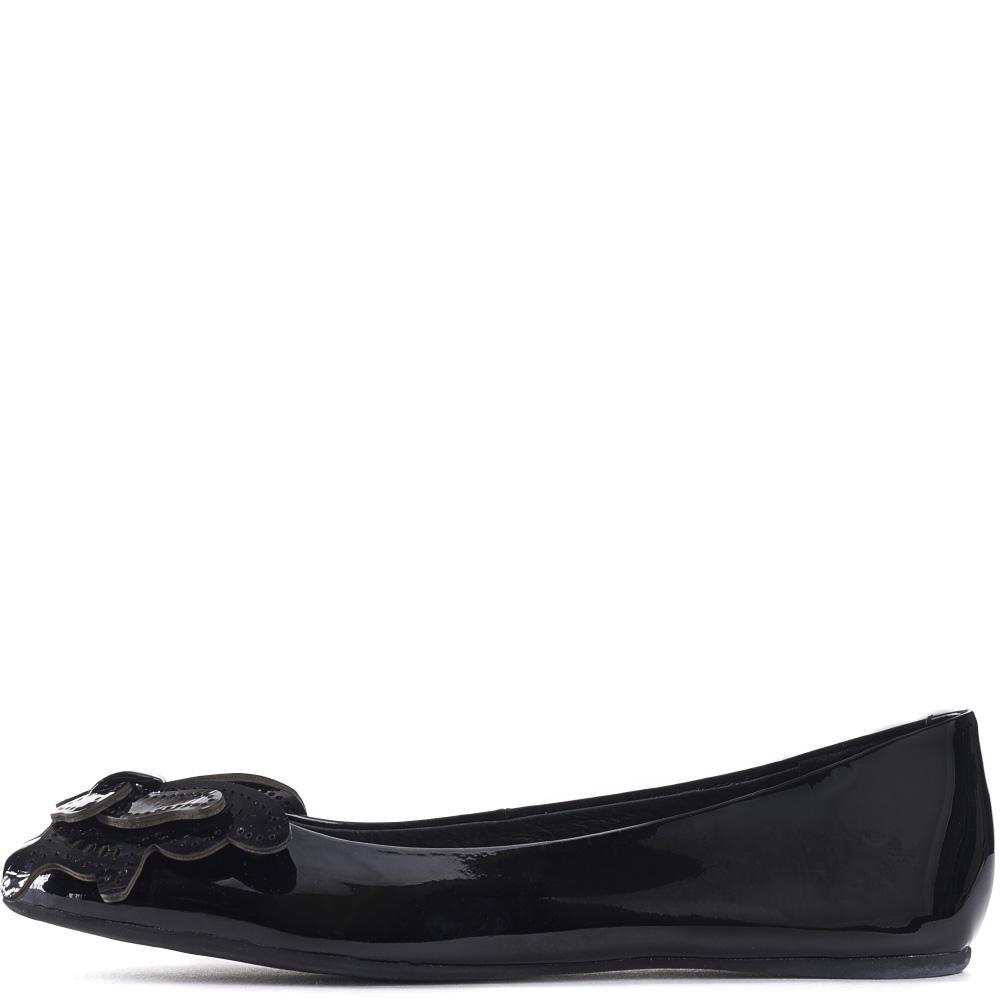 jeffrey campbell for women: flutter black patent leather flats