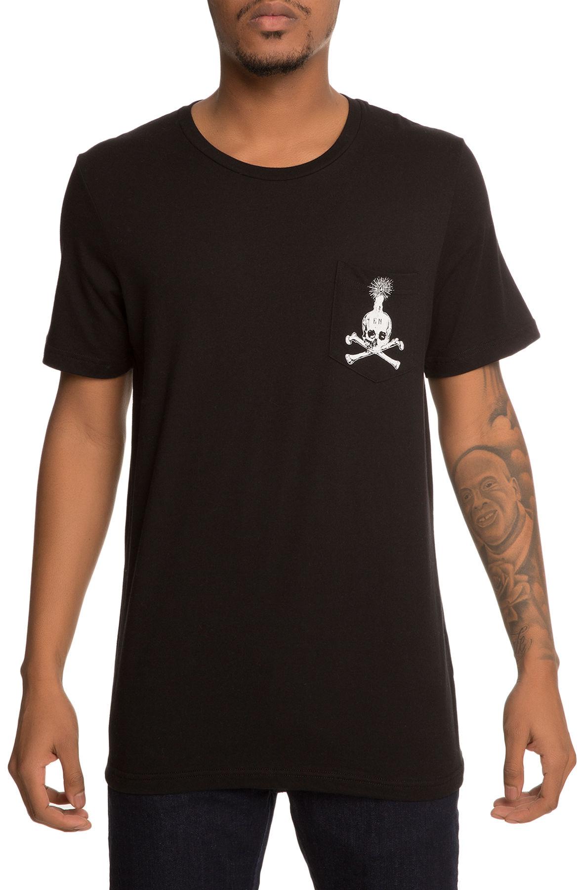 The EN x Karmaloop Skull Illuminated Pocket Tee in Black