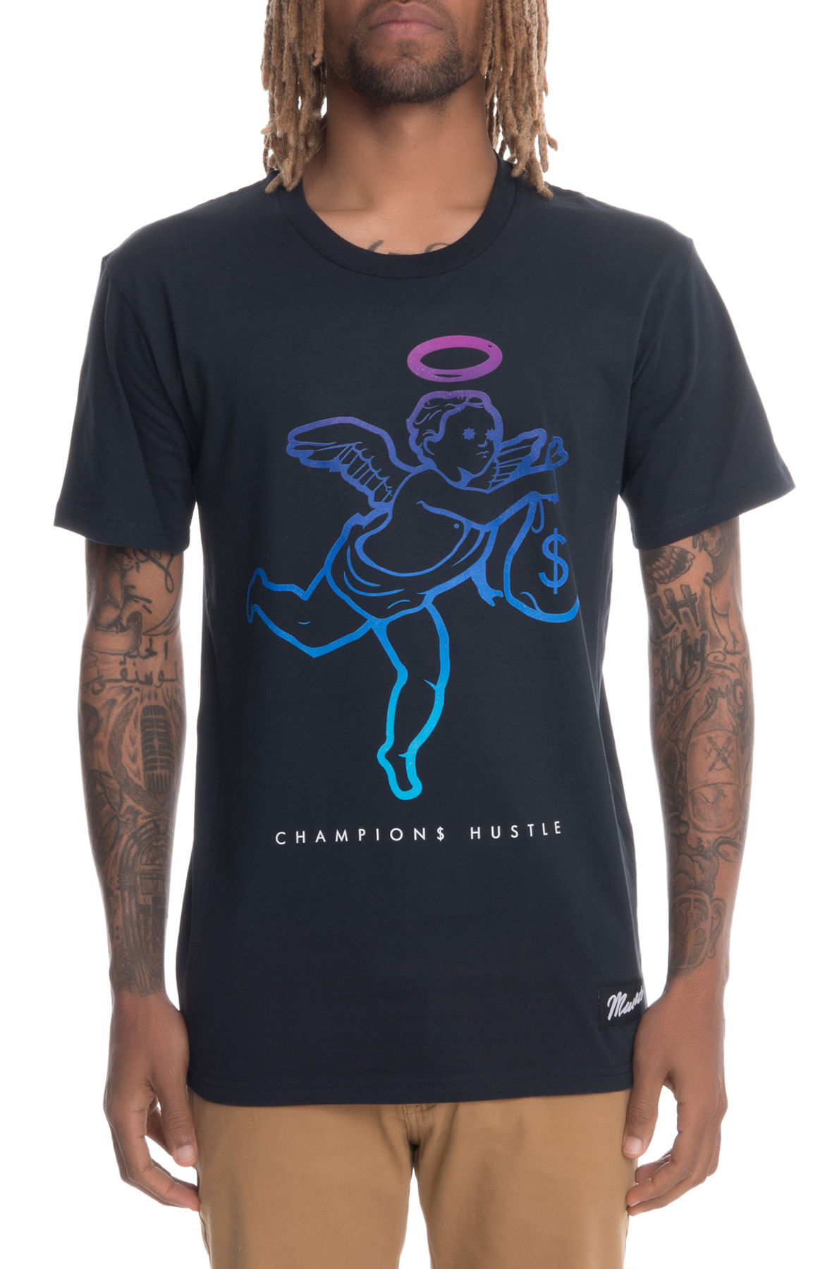 Image of The Angel Gradient Short Sleeve Tee in Navy
