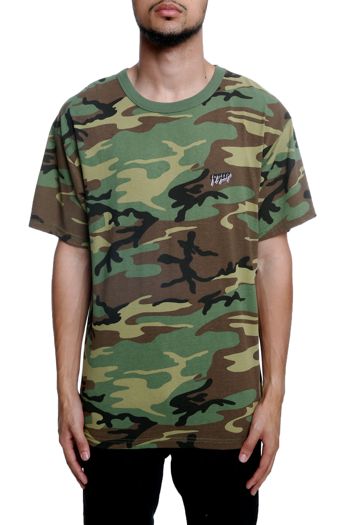 Image of All The Lights Short Sleeve Woodland Camo