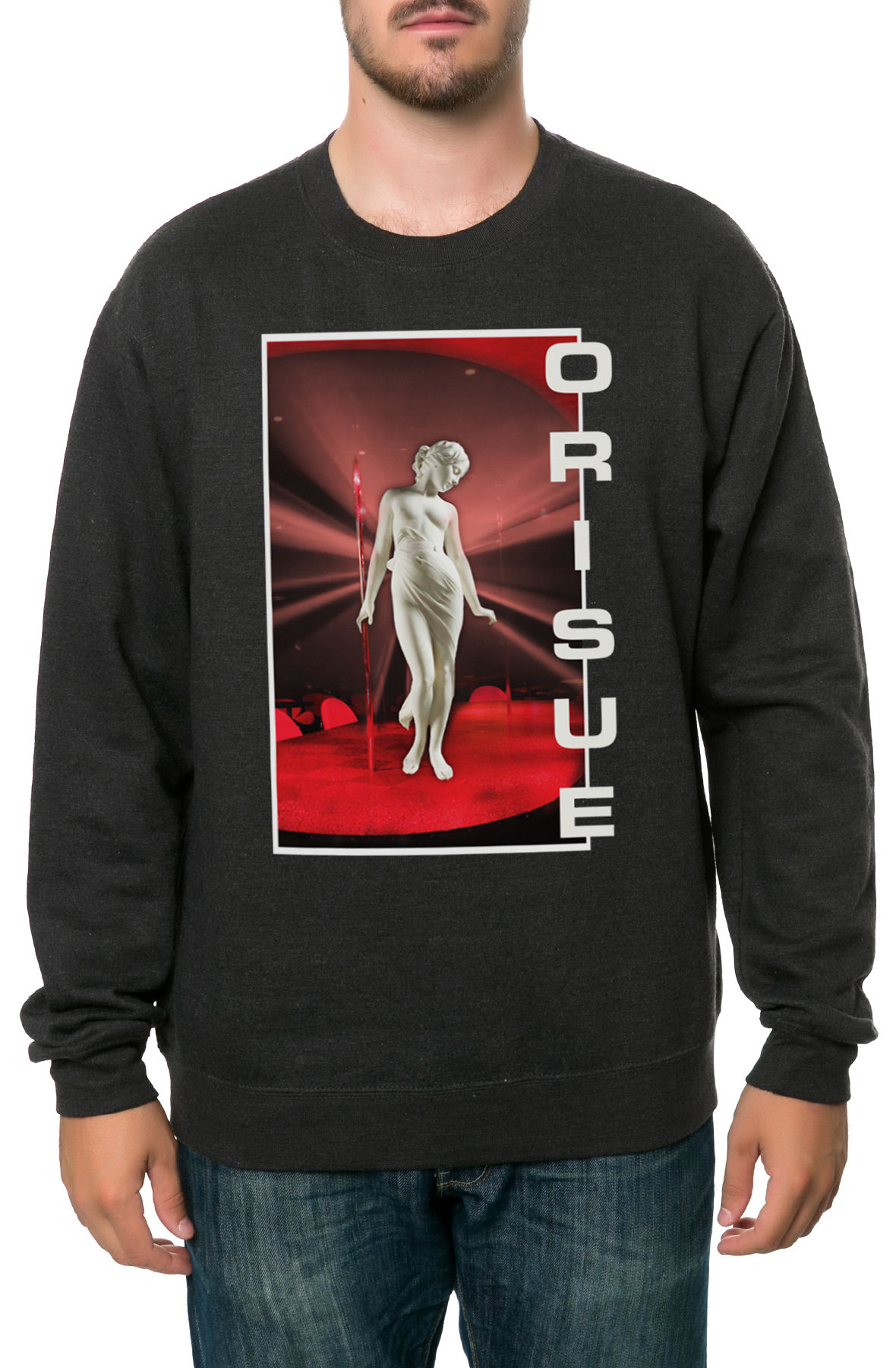 Image of The Club Iris Crewneck Sweatshirt in Charcoal