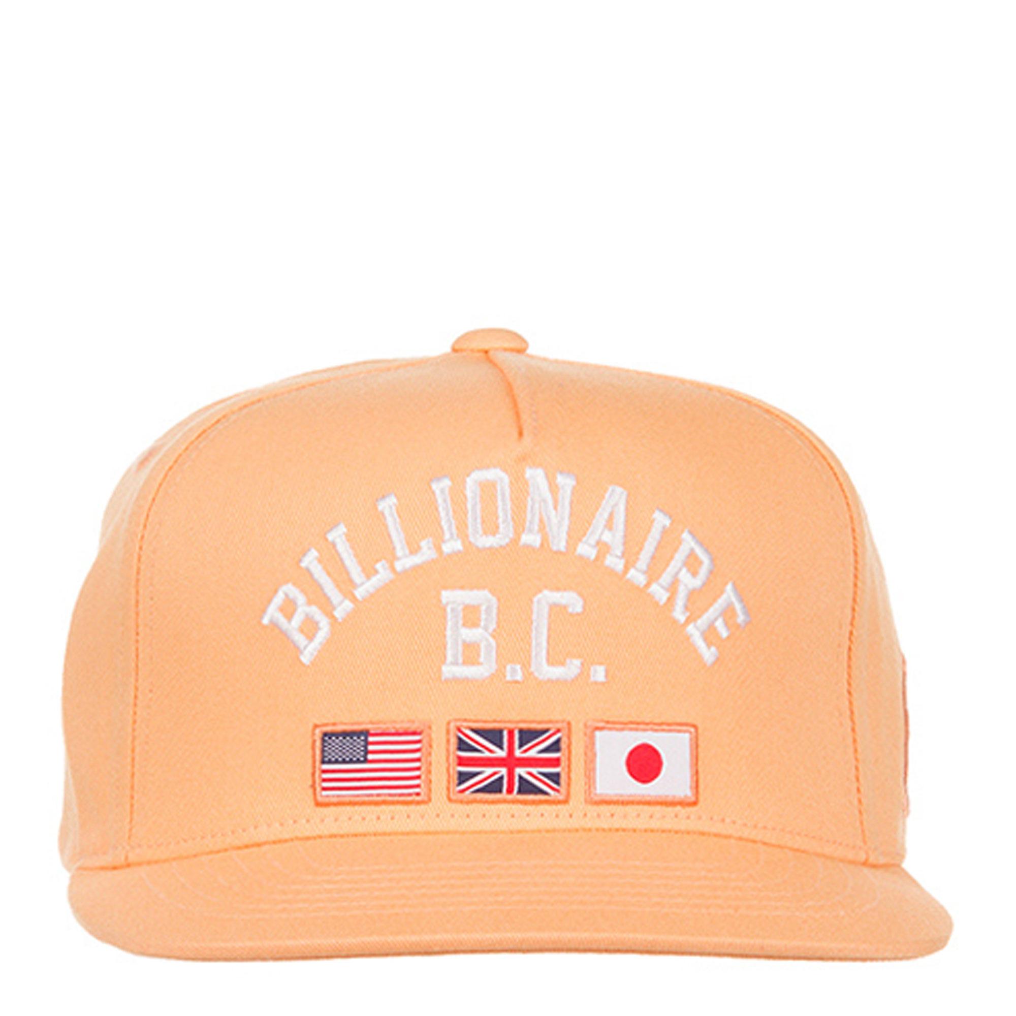 snapback hat in peach cobbler