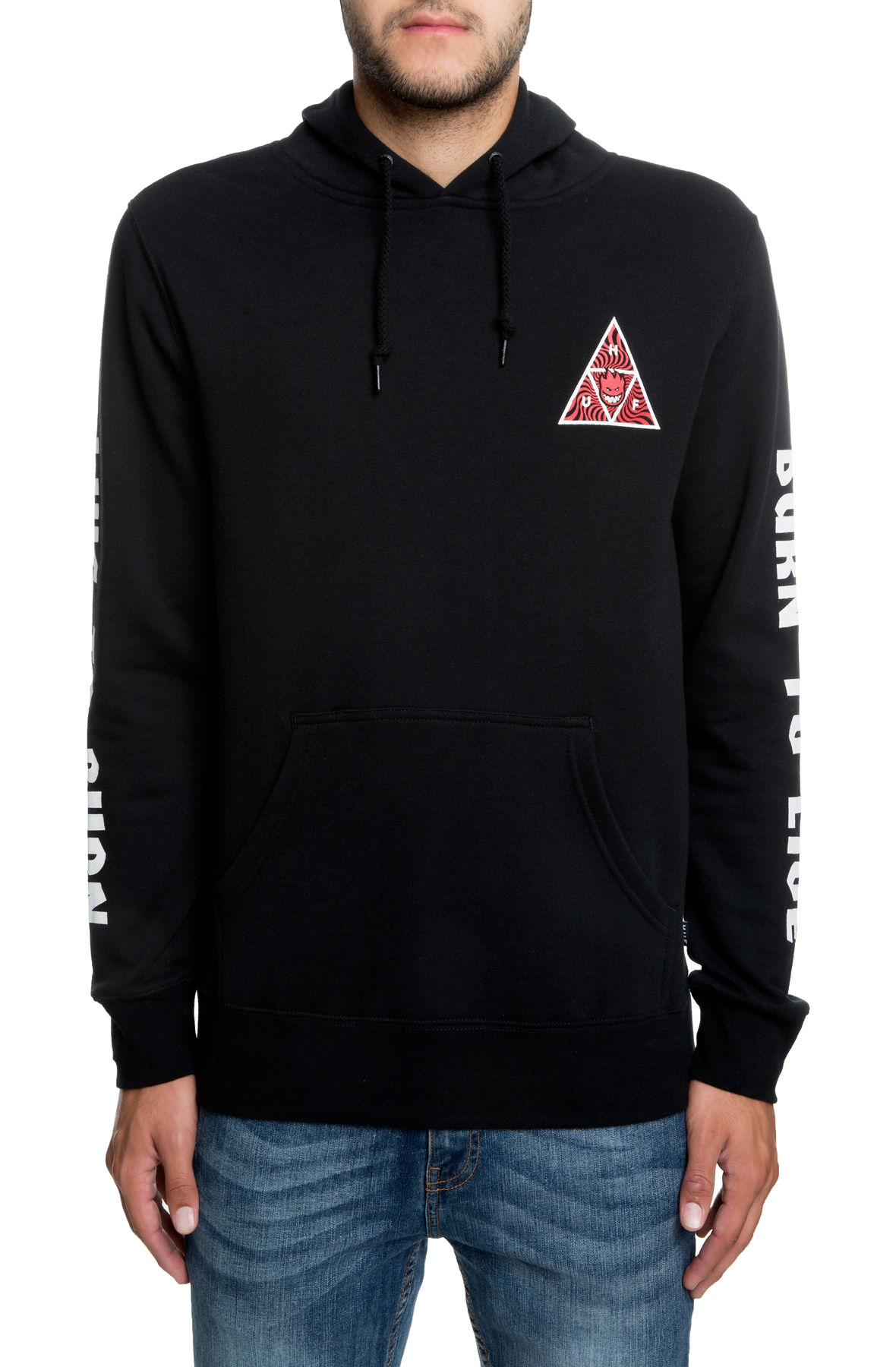 Image of The Spitfire Triangle Pullover Hoodie in Black