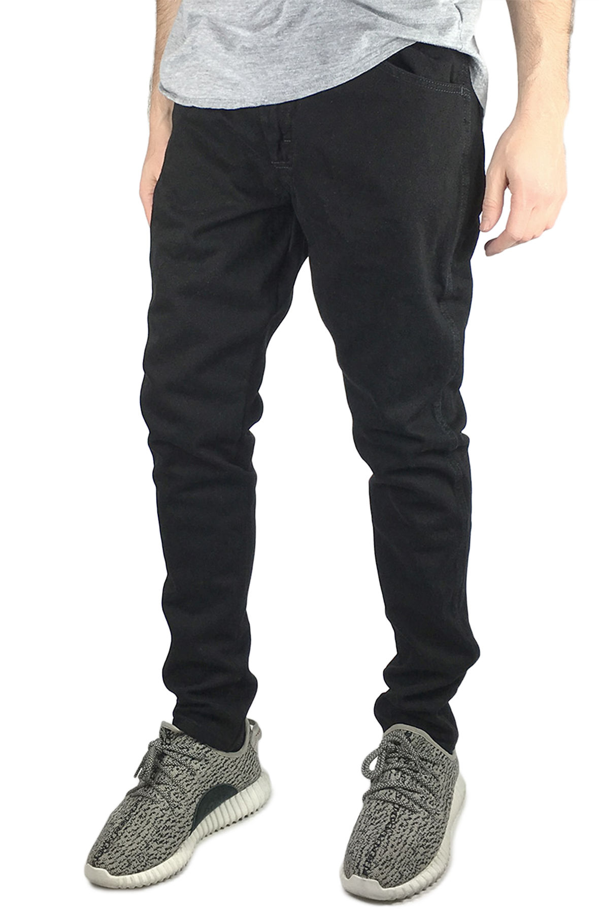Image of The Custom Tapered Jeans in Black