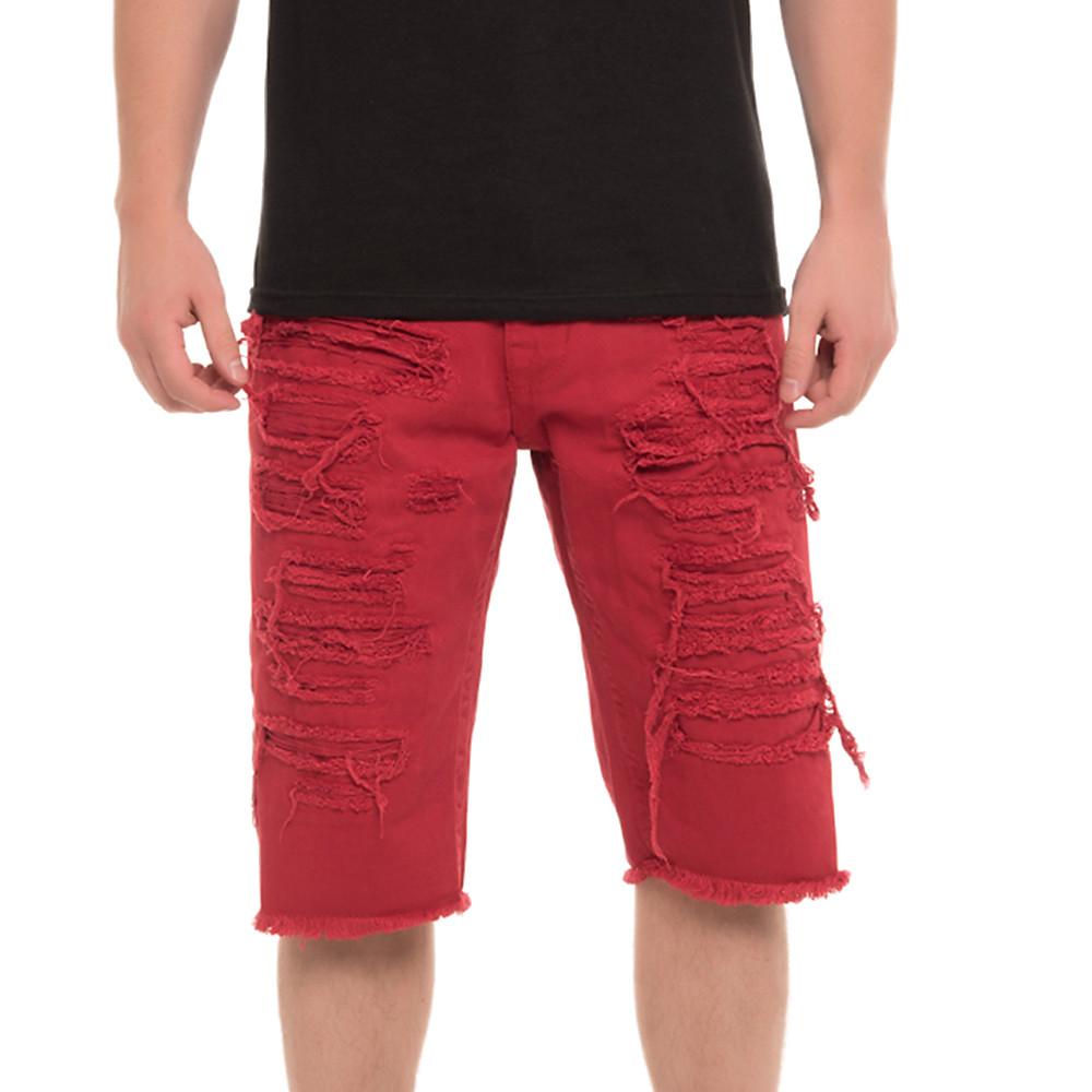 Image of Men's Ripped Denim Shorts