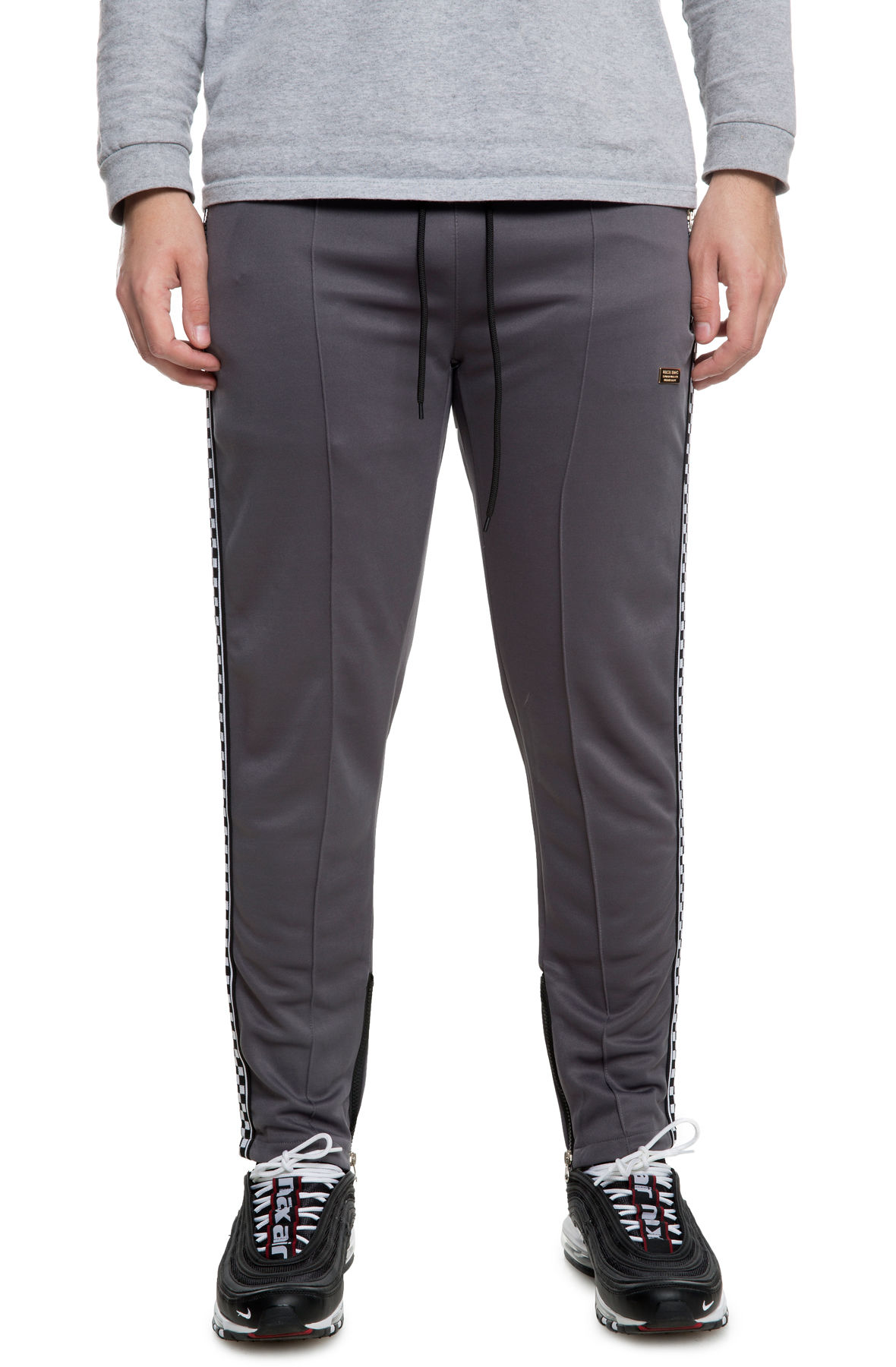 Image of The Lexington Check Track Pants in Grey