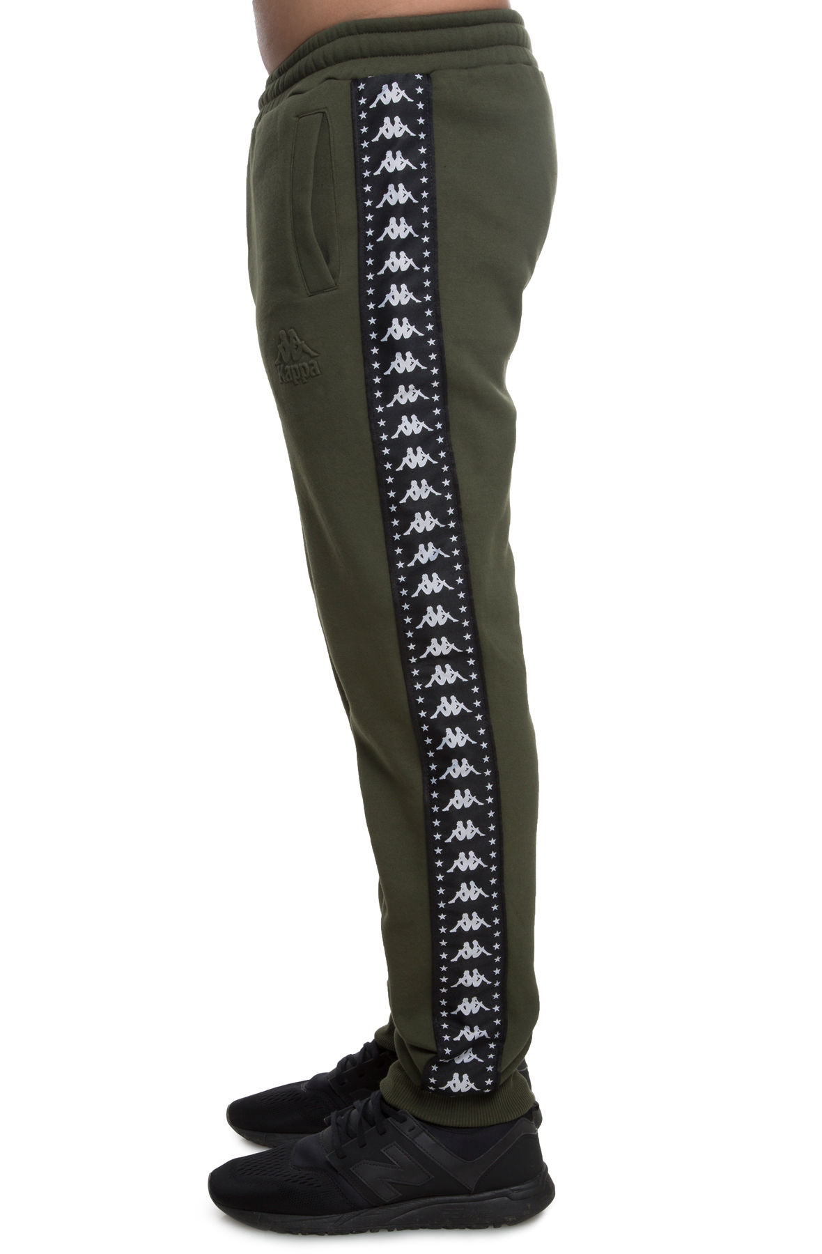 Image of The Kappa Authentic Bzaliw Fleece Pant In Green And Black