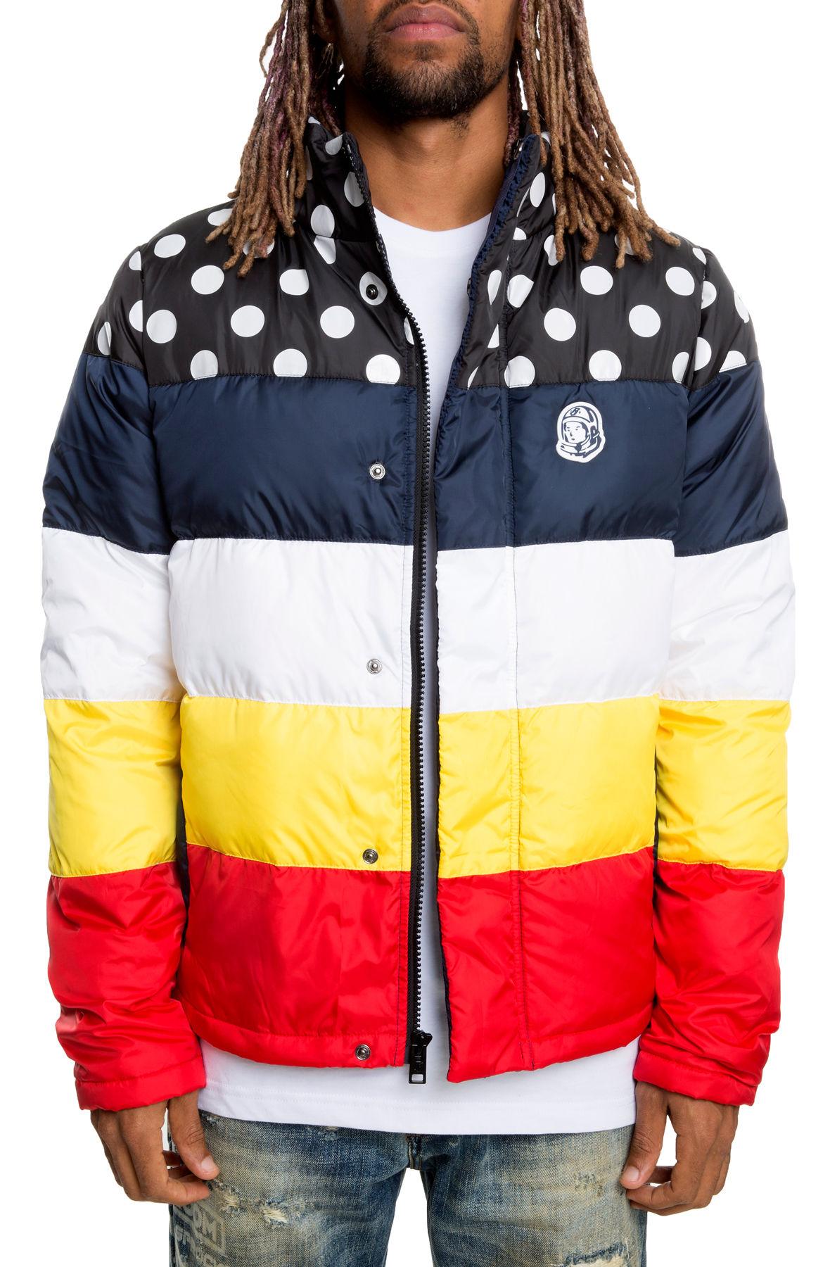 Image of Puffer Jacket In Multi-Colored
