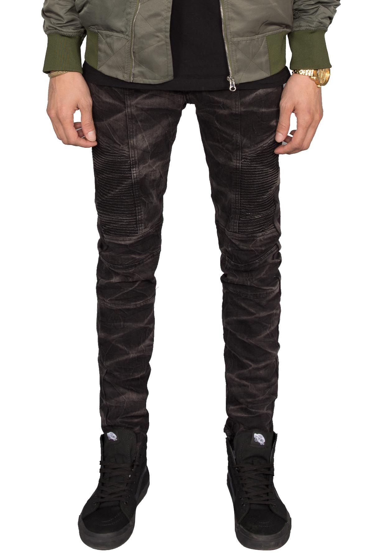 Image of Marble Moto Jeans