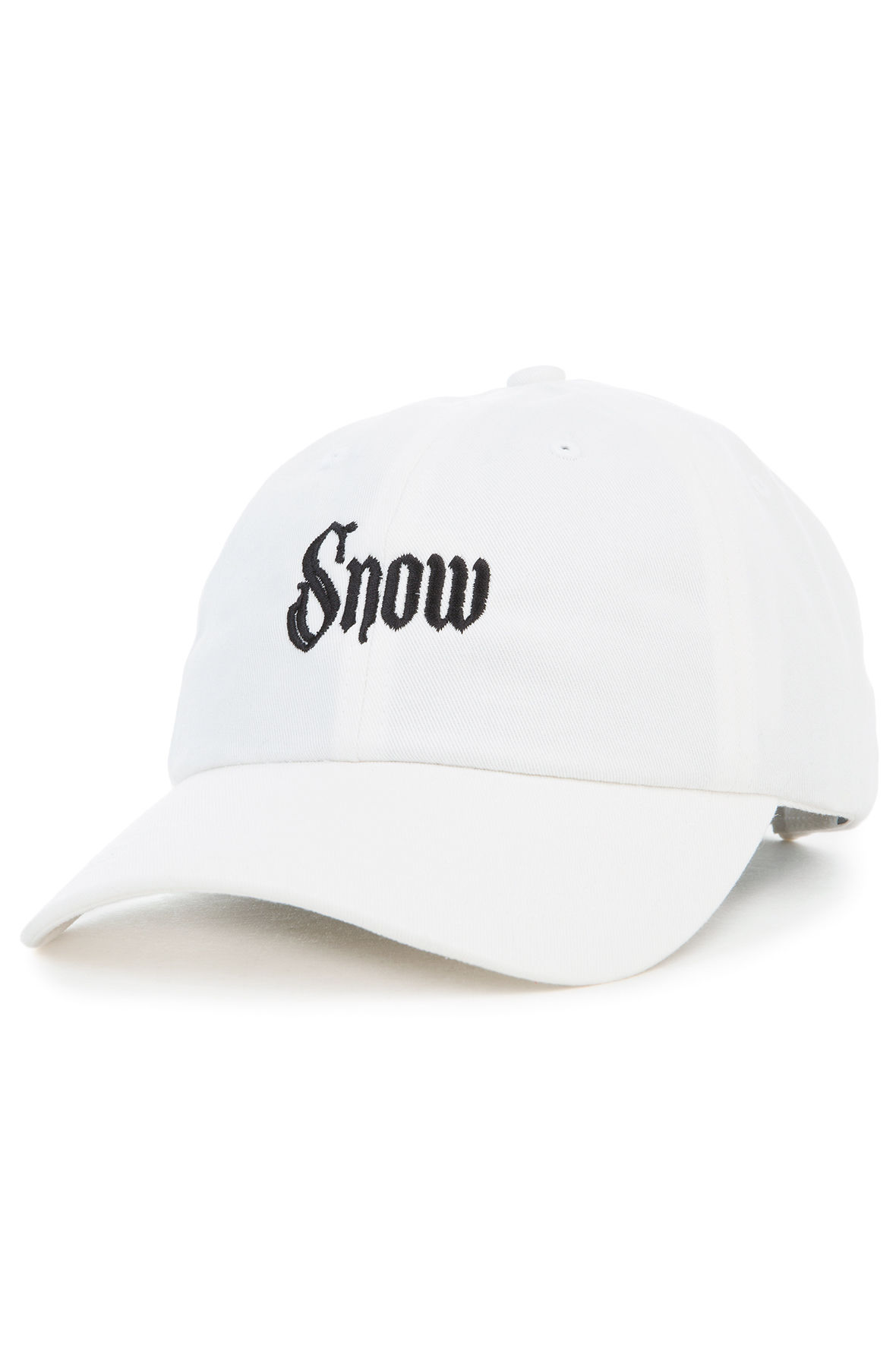 The Snow Girl Dad Hat in White