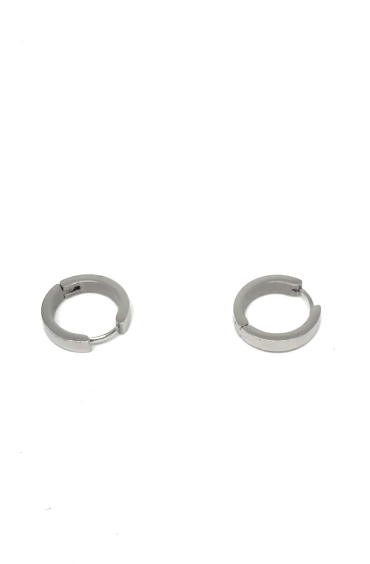 Stainless Steel Hoop Earrings Big