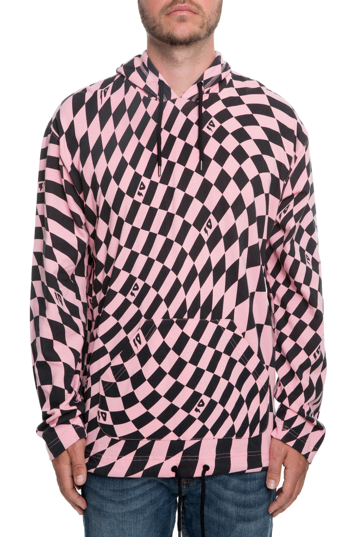 Image of 10 Deep XXX USA Distortion Hooded Tee in Pink