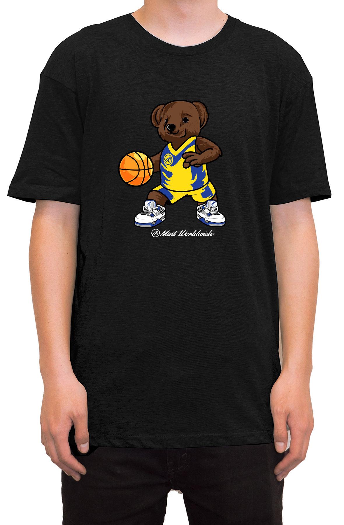 """BasketBall Bear T-shirt """" Black"""