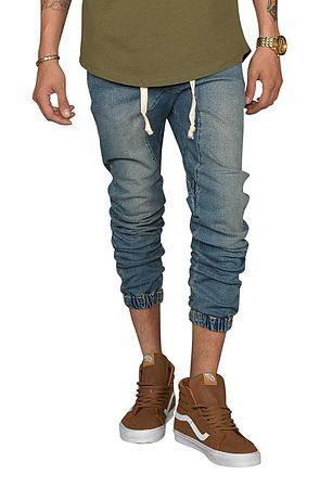 Image of Denim Jogger Pants