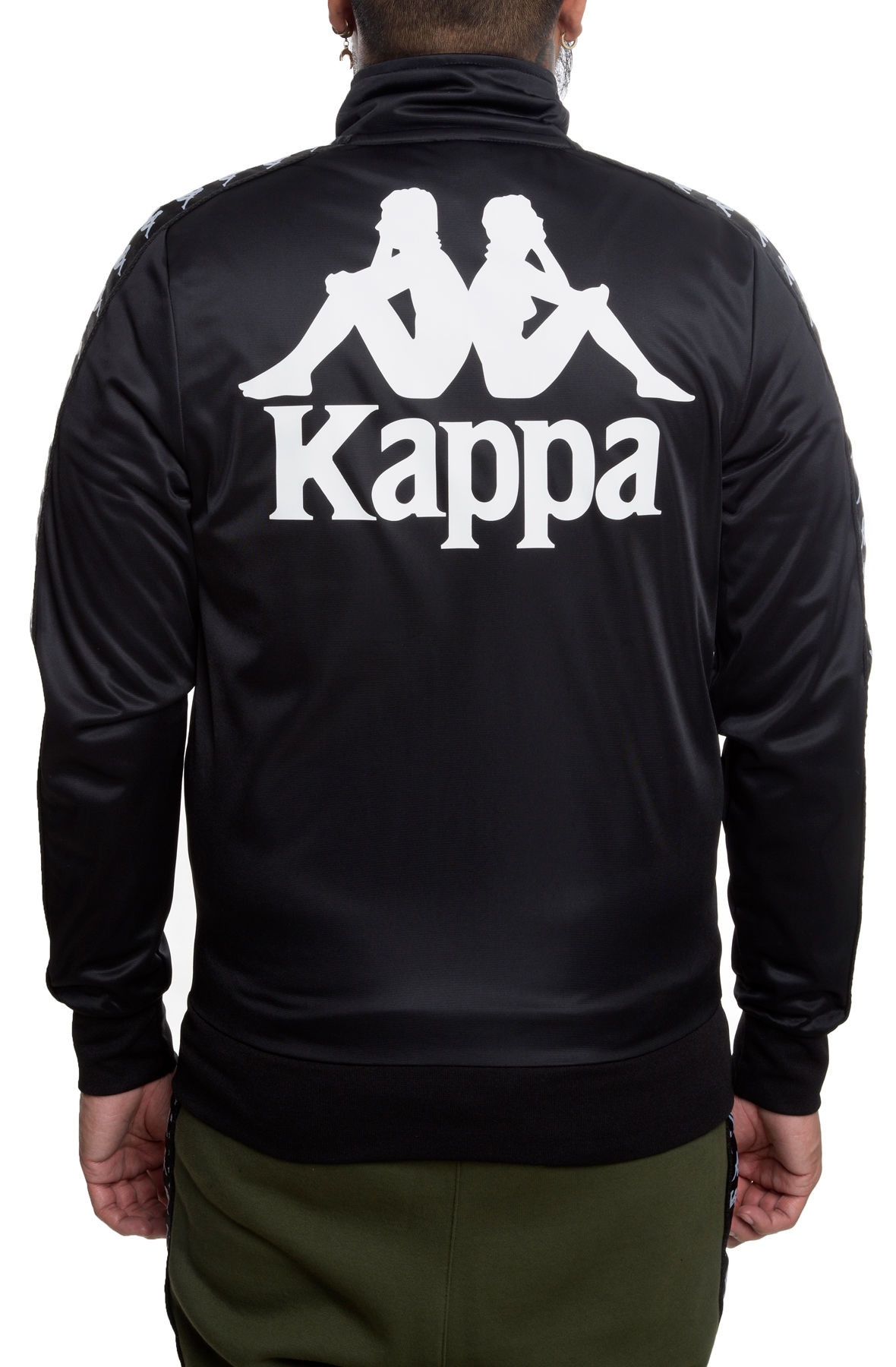 Image of The Kappa Authentic Batrack Track Jacket In Black and White?