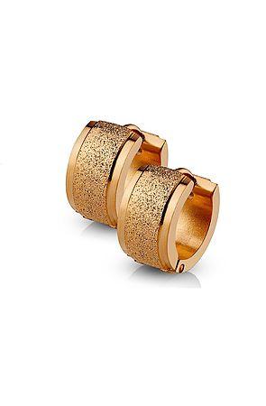 The Sand Blast Center Earrings - Rose Gold