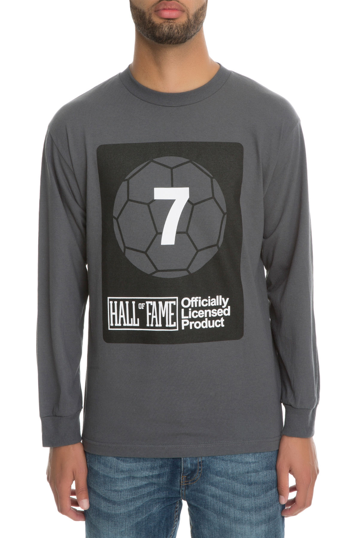 The Goalie Long Sleeve Tee in Charcoal