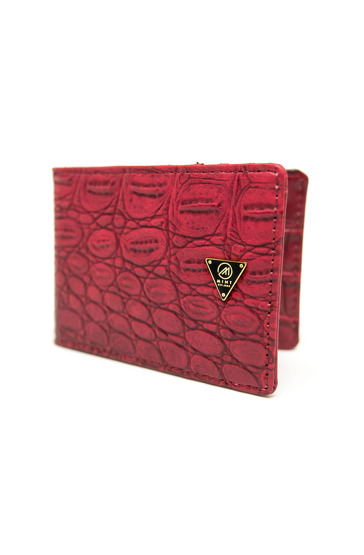 Image of Mint Croc Red Mag Wallet