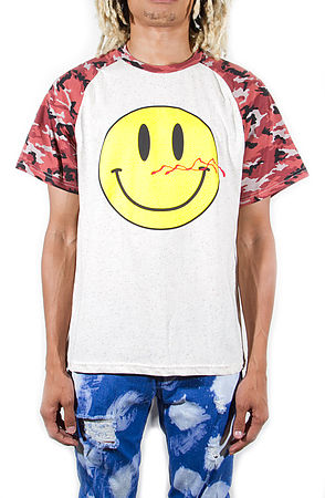 Image of Bloody Smiley T-shirts Camo Red