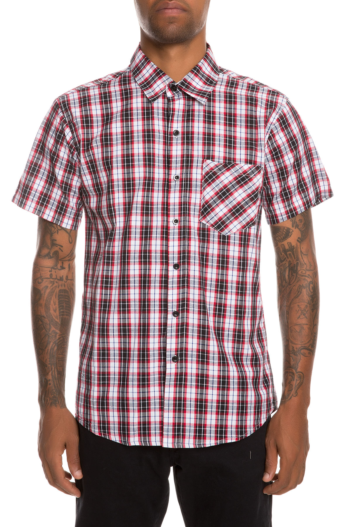Image of The Something Still Button-Up Shirt in Red/White