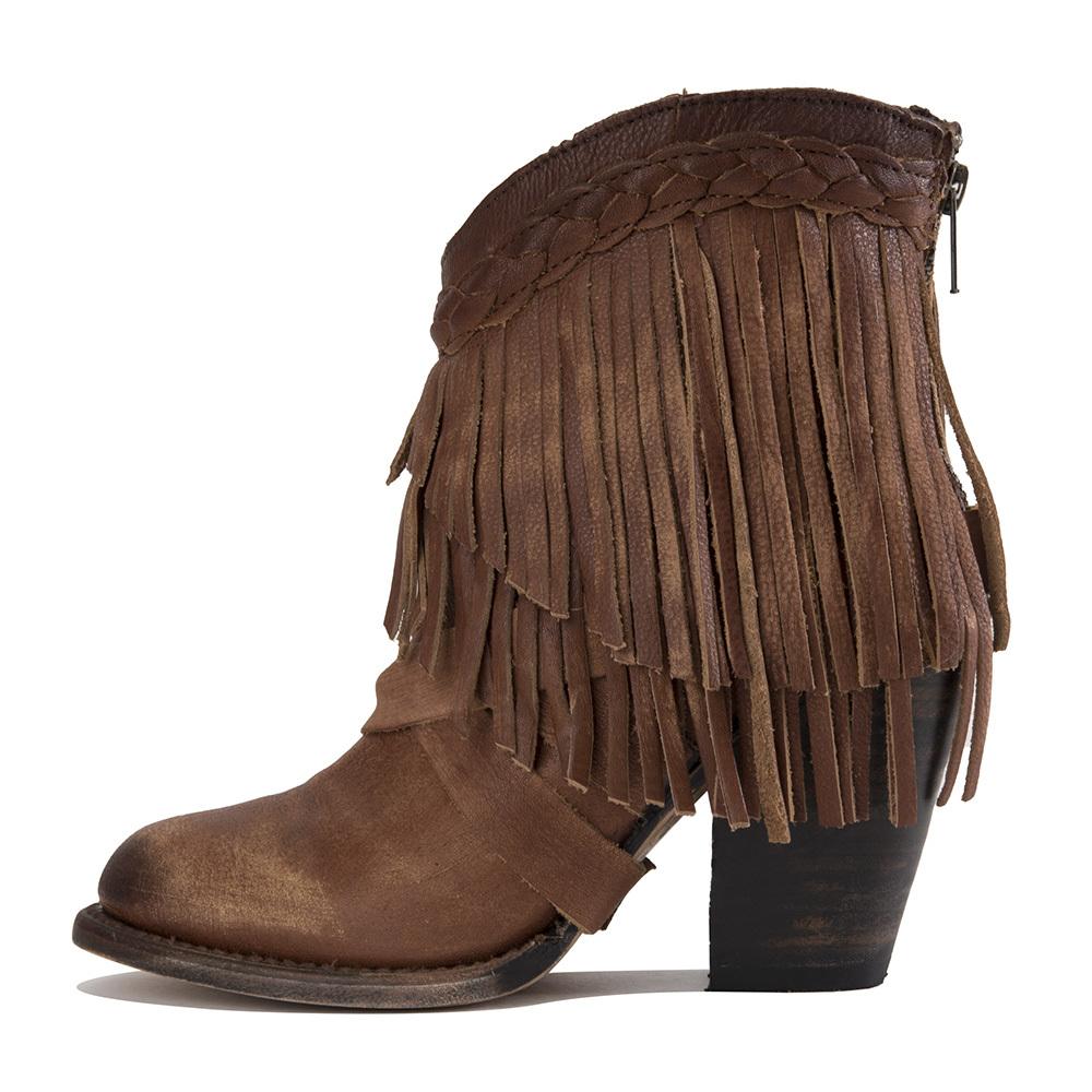 Image of Freebird by Steven: Tonto Cognac Heel Boots