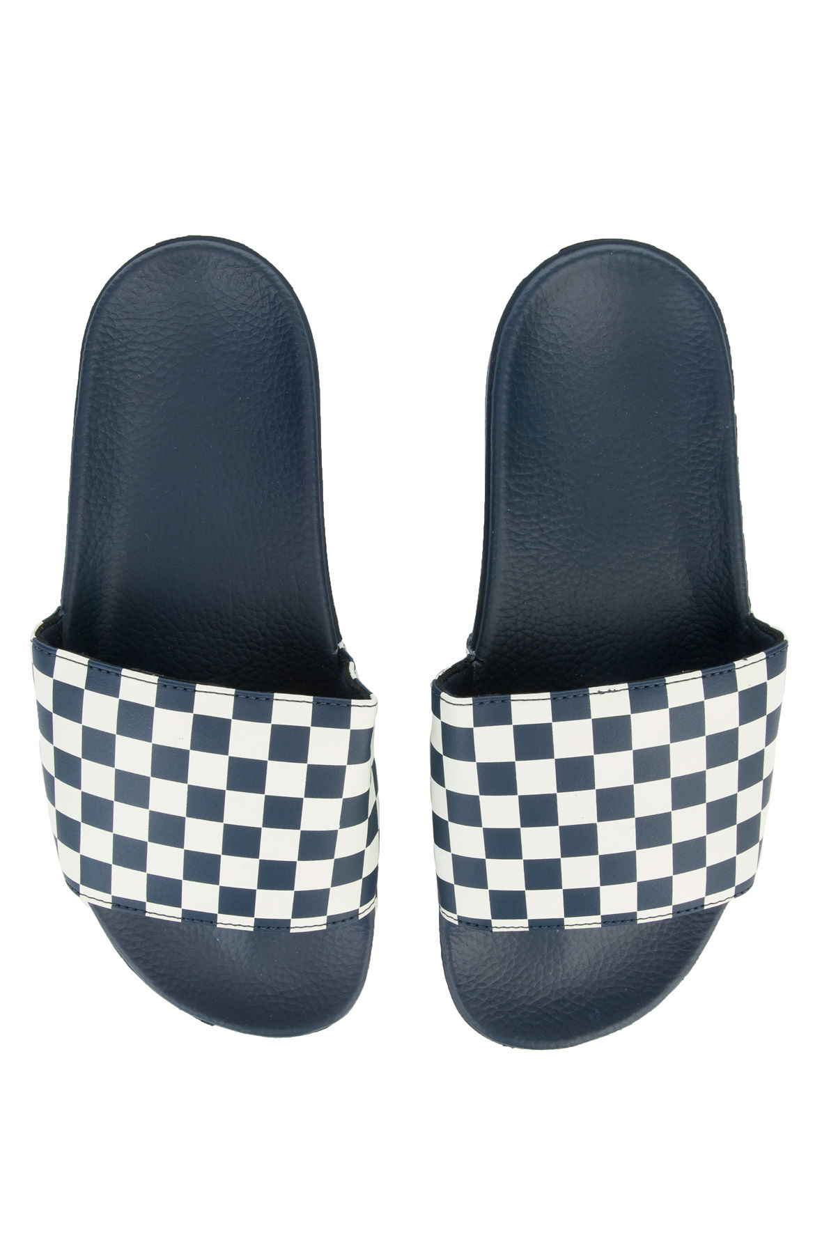 Image of The Men's Slide-On in Dress Blues Checkerboard